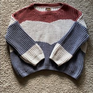 NWT Striped Chenille Sweater